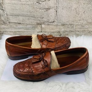 Johnston Murphy Tassel/ Fringe Loafers Size 11.5